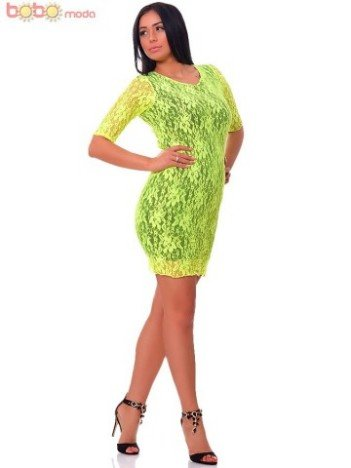 Rochie Cocktail Yellow Neon